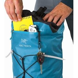 Alpha FL 30 Backpack Dark Firoza Front Pocket