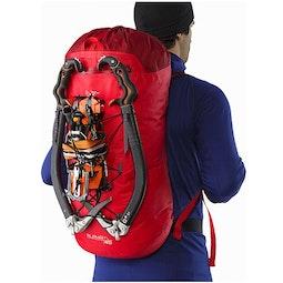 Alpha FL 45 Backpack Cayenne Back View