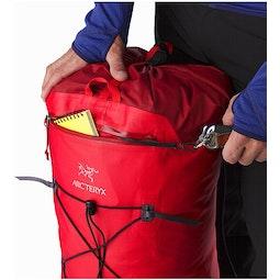 Alpha FL 45 Backpack Cayenne Front Pocket