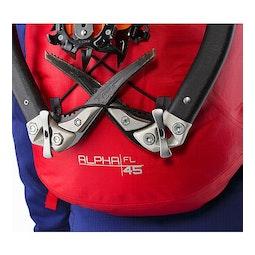 Alpha FL 45 Backpack Cayenne Ice Axe Attachment