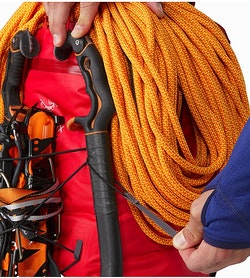 Alpha FL 45 Backpack Cayenne Ice Axe Toggle