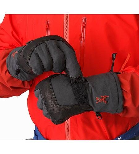Alpha FL Glove Graphite Cardinal Cuff