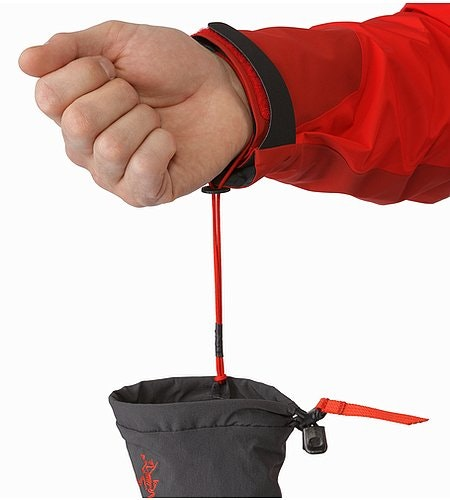 Alpha FL Glove Graphite Cardinal Removable Wrist Leash