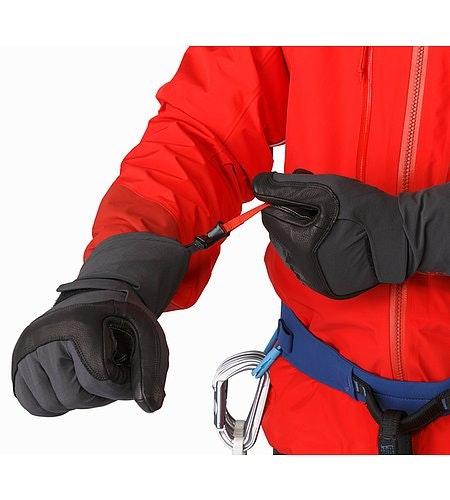 Alpha FL Glove Graphite Cardinal Wrist Cinch Release