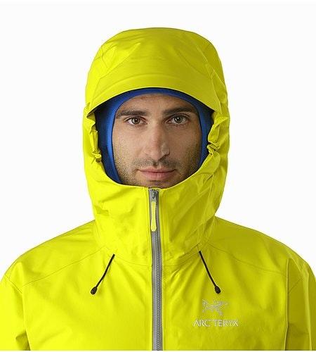 Alpha FL Jacket Lichen Hood Front View