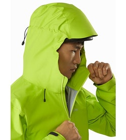 Alpha FL Jacket Pulse Hood Side View
