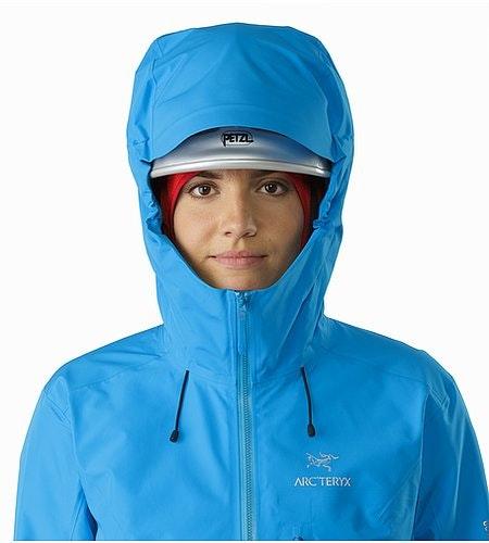 Alpha FL Jacket Women's Baja Helmet Compatible Hood Front View
