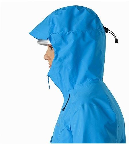 Alpha FL Jacket Women's Baja Helmet Compatible Hood Side View