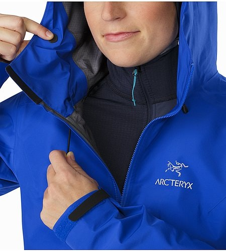 Alpha FL Jacket Women's Somerset Blue Hood Adjuster