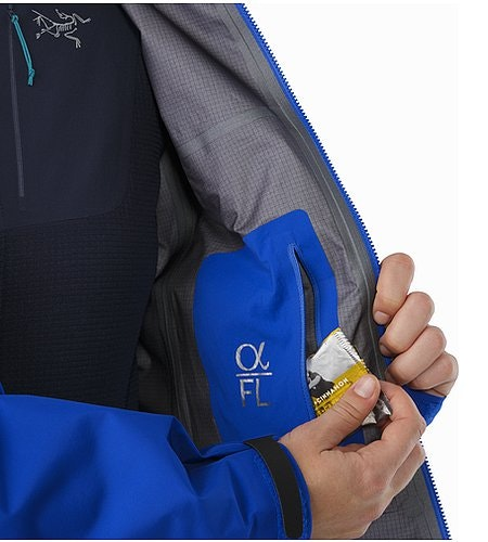 Alpha FL Jacket Women's Somerset Blue Internal Pocket
