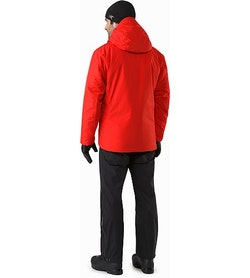 Alpha IS Jacket Magma Back View