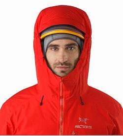 Chaqueta Alpha IS Magma: Vista frontal de la capucha compatible con casco
