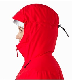 Alpha IS Jacket Women's Magma Helmet Compatible Hood Side View