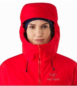 Alpha IS Jacket Women's Magma Hood Front View