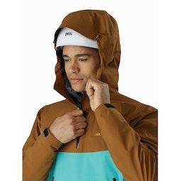 Alpha Pullover Bourbon Halycon Helmet Compatible Hood