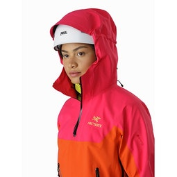 Alpha Pullover Women's Tourmaline Phoenix Helmet Compatible Hood