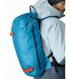Alpha SK 32 Backpack Dark Firoza Side Access Zipper