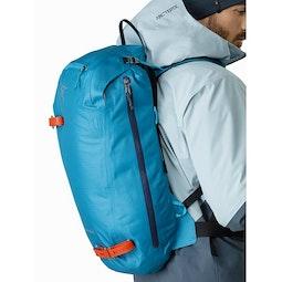 Alpha SK 32 Backpack Dark Firoza Side Access Zipper