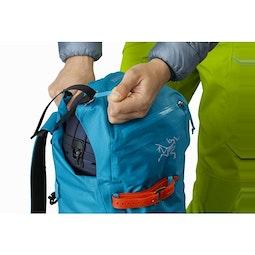 Alpha SK 32 Backpack Dark Firoza Top Lid Adjuster
