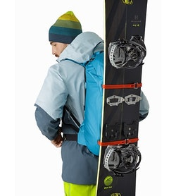 Alpha SK 32 Backpack Dark Firoza Vertical Snowboard Carry