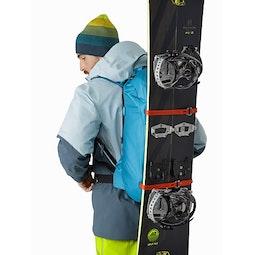 Alpha SK 32 Backpack Dark Firoza Vertical Snowboard Carry