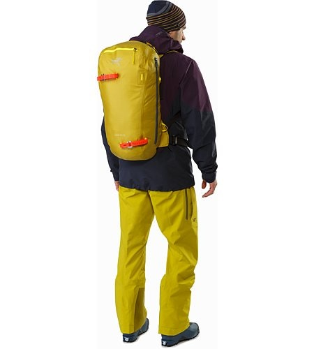 Alpha SK 32 Backpack Everglade Passform Rückansicht