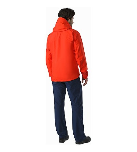 Alpha SL Jacket Magma Back View