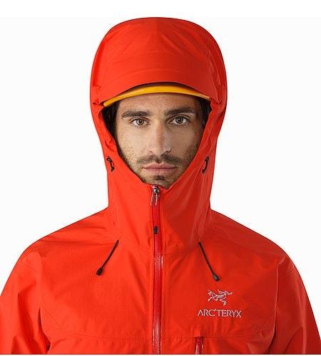 Alpha SL Jacket Magma Helmet Compatible Hood Front View