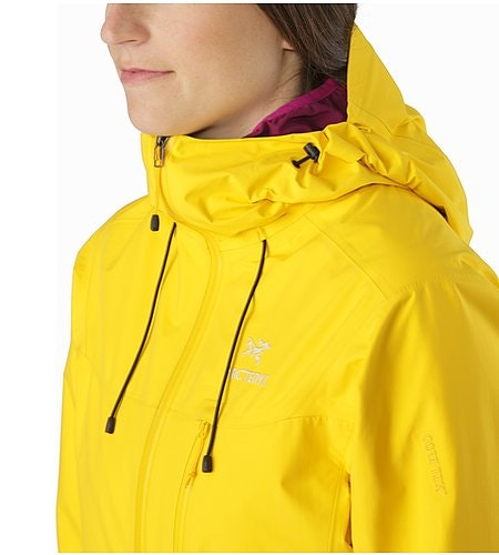 Alpha SL Jacket Women's Golden Poppy Hood Down