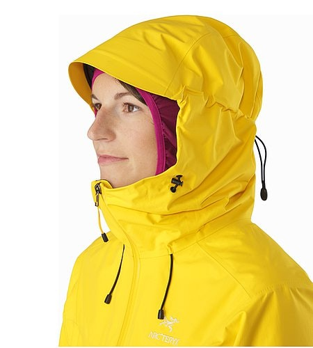 Alpha SL Jacket Women's Golden Poppy Hood Side View