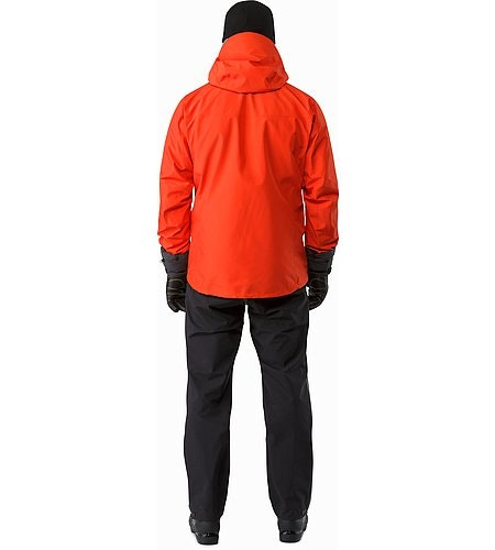 Alpha SV Jacket Cardinal Back View