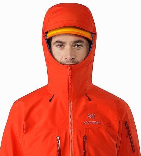 Alpha SV Jacket Cardinal Helmet Compatible Hood Front View