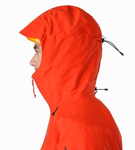 Alpha SV Jacket Cardinal Helmet Compatible Hood Side View