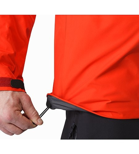 Alpha SV Jacket Cardinal Hem Adjuster