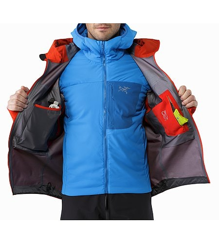Alpha SV Jacket Cardinal Internal Pockets