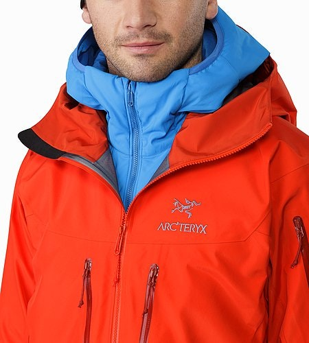 Alpha SV Jacket Cardinal Open Collar