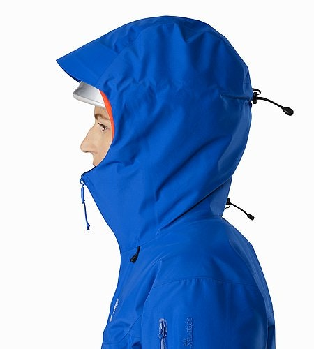 Alpha SV Jacket Women's Somerset Blue Helmet Compatible Hood Side View