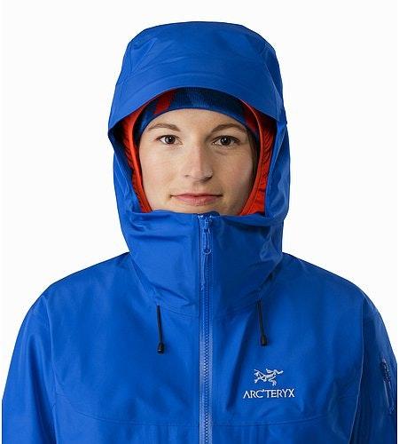Alpha SV Jacket Women's Somerset Blue Kapuze Vorderansicht