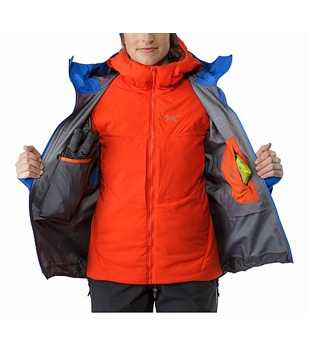 Alpha SV Jacket Women's Somerset Blue Internal Pockets