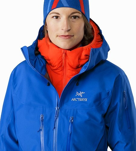 Alpha SV Jacket Women's Somerset Blue Offener Kragen