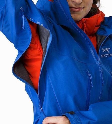 Alpha SV Jacket Women's Somerset Blue Unterarmreißverschluss