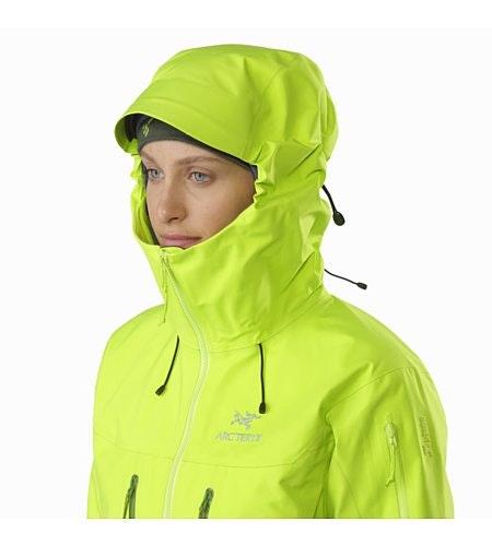 Alpha SV Jacket Women's Titanite Hood Up