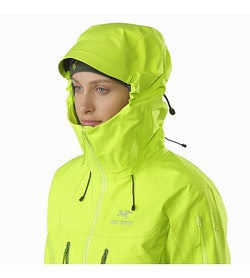 Alpha SV Jacket Women's Titanite Hood Up