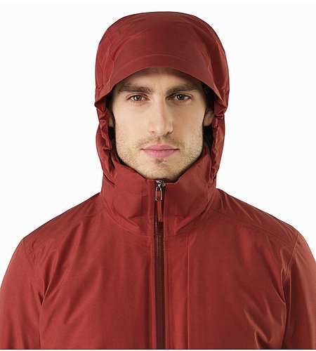 Ames Jacket Pompeii Hood Front View