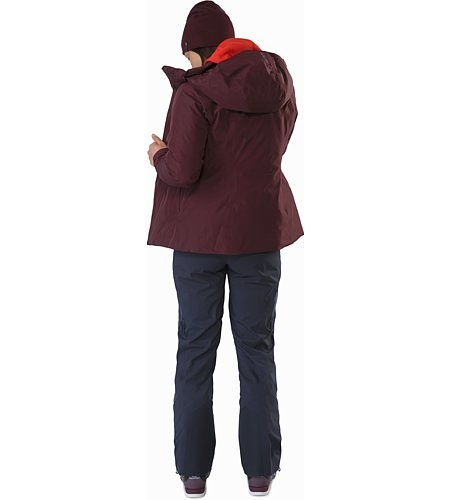 Andessa Jacket Women's Crimson Back View