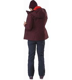 Andessa Jacket Women's Crimson Back View
