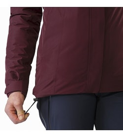 Manteau Andessa Femme Crimson Cordon de serrage sur l'ourlet