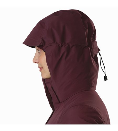 Andessa Jacket Women's Crimson Hood Up