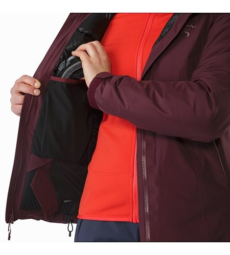 Andessa Jacket Women's Crimson Internal Dump Pocket