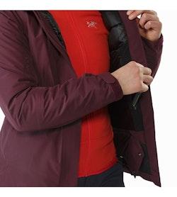 Manteau Andessa Femme Crimson Poche de sécurité intérieure